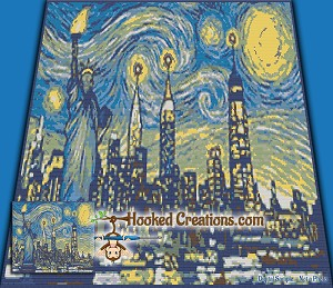 Starry Night Liberty SC (Single Crochet) Throw Sized Blanket Graphghan Crochet Pattern - PDF Download