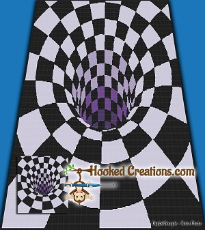 There's A Hole in my Bed SC (Single Crochet) Full Size Blanket Graphghan Crochet Pattern - PDF Download