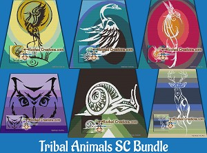 Tribal Animals SC (Single Crochet) Bundle Graphghan Crochet Pattern - PDF Download