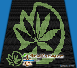 Weed Eclipse C2C (Corner to Corner) Throw Blanket Graphghan Crochet Pattern - PDF Download