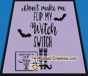 Witch Switch SC (Single Crochet) Throw Sized Blanket Graphghan Crochet Pattern - PDF Download