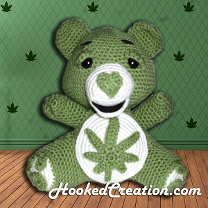Stoner Bear Crochet Pattern - Amigurumi - PDF Download